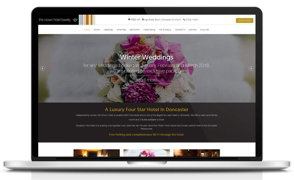 crown-hotel-bawtry-website-design