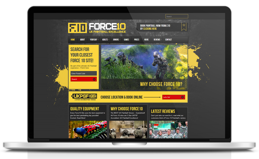 force-10-paintball-website-design