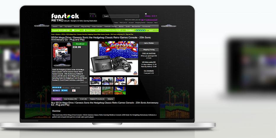 Funstock Retro Ecommerce Website Design