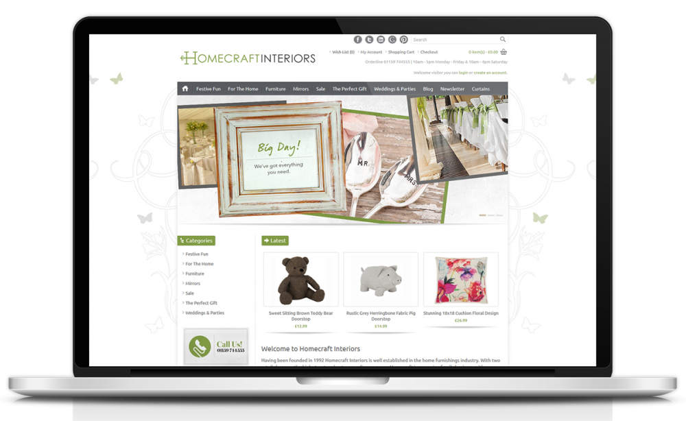 homecraft-interiors-ecommerce-website-design