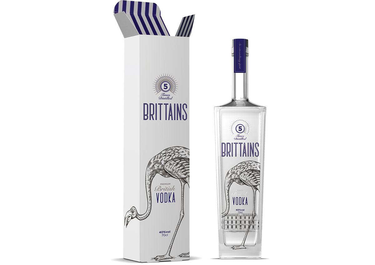 Brittains Vodka Packaging