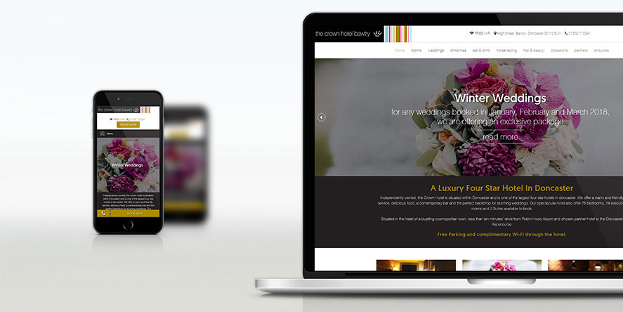 Crown Hotel Bawtry Responsive Web Design