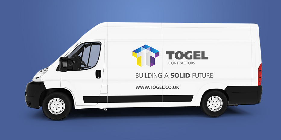 Togel Logo Applied to Van Livery