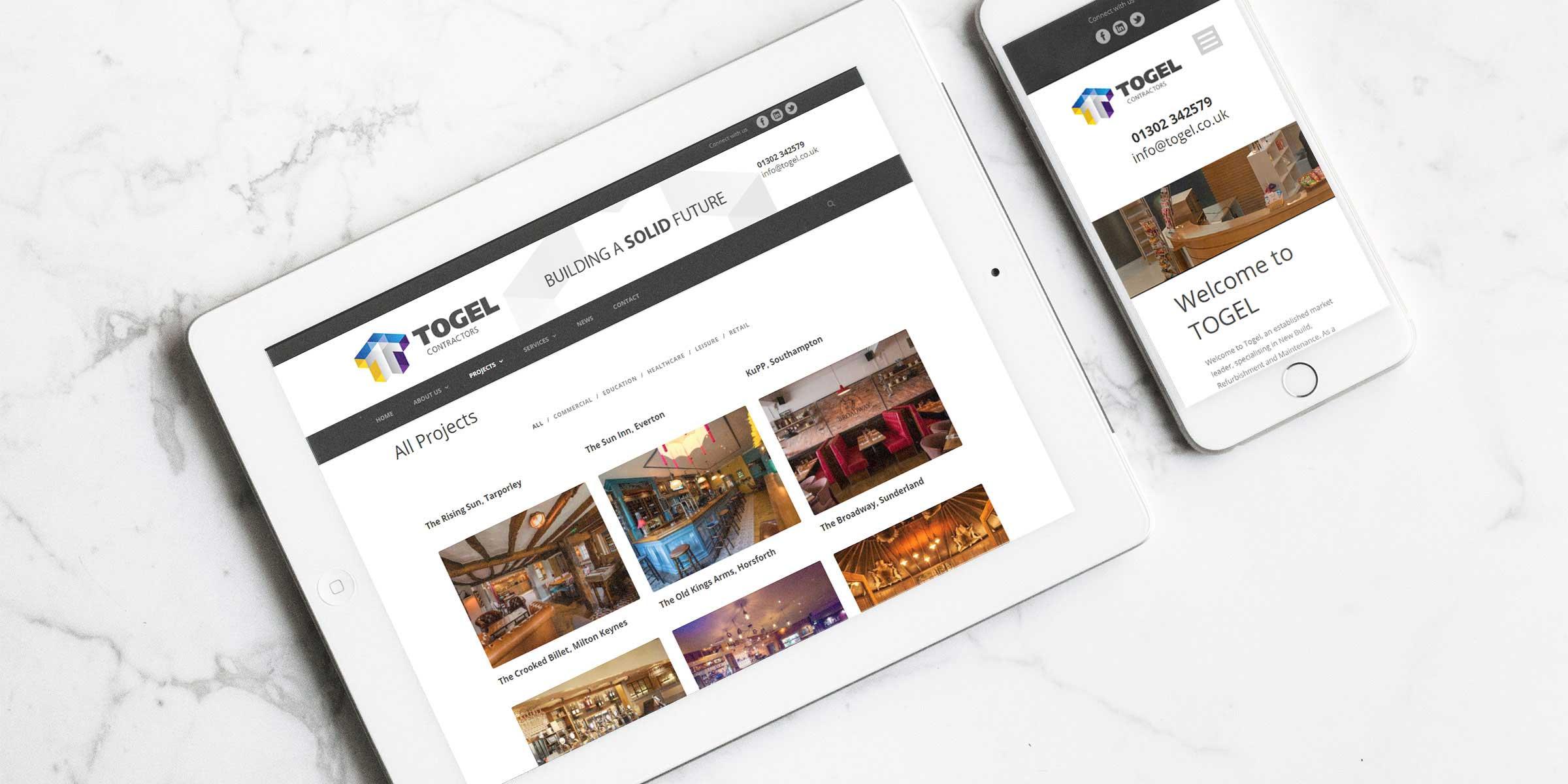 Togel Contractors Website Design
