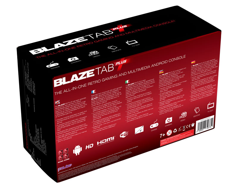 BlazeTab Plus Back Packaging