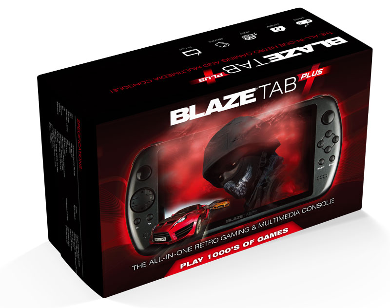 BlazeTab Plus Front Packaging