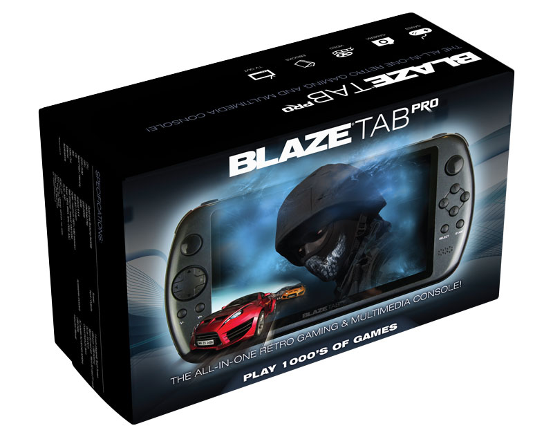BlazeTab Pro Front Packaging