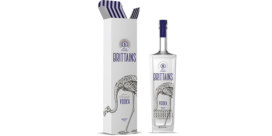 Brittains Vodka Bottle Packaging