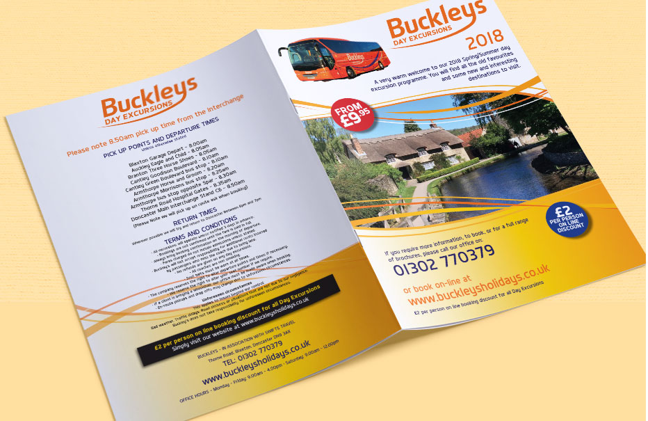 Buckleys 2018 Day Trips Brochure Covers