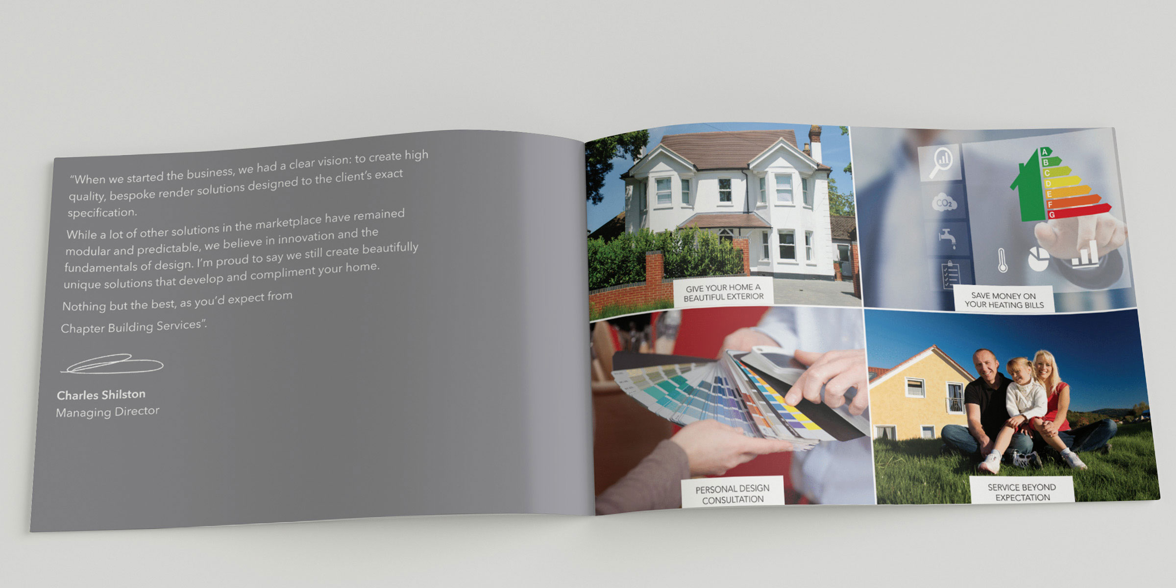 Chapter Wealth Building Services - Brochure Inner Page Design