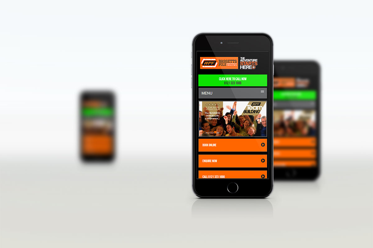 NPF Bassetts Pole Mobile Website Design